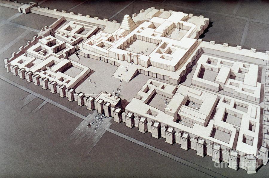 Palace At Khorsabad By Granger