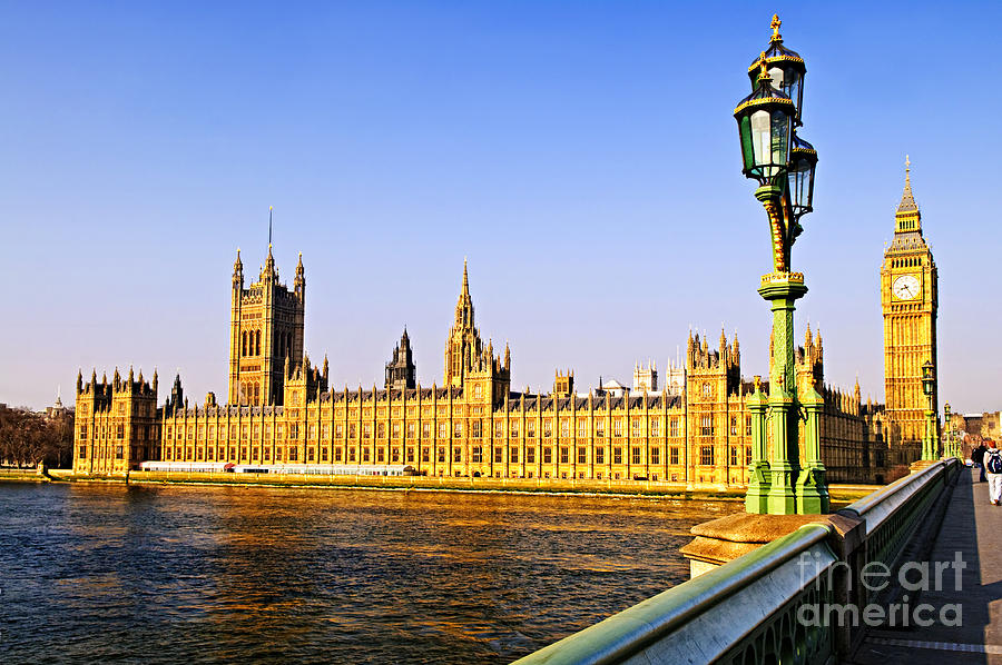 Palace Of Westminster From Bridge Photograph
