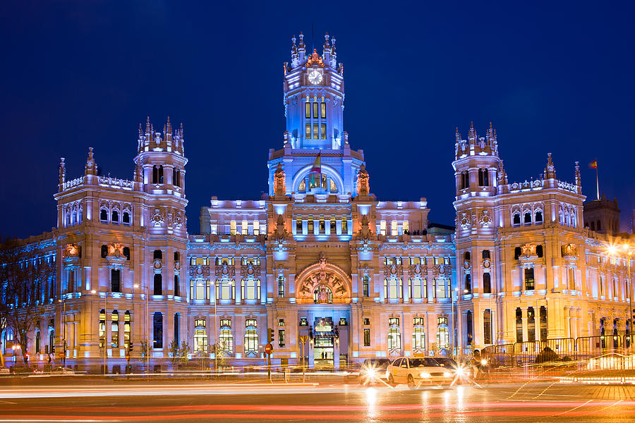 Madrid Photograph - Palacio De Comunicaciones In Madrid by Artur Bogacki