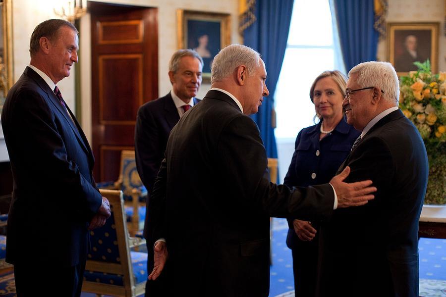 Palestinian-israeli Talks At The White Photograph
