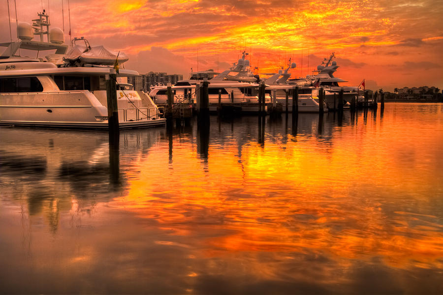 Palm Beach Harbor Glow Photograph  - Palm Beach Harbor Glow Fine Art Print