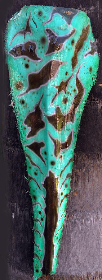 Palm Frond Green Organic Sculpture