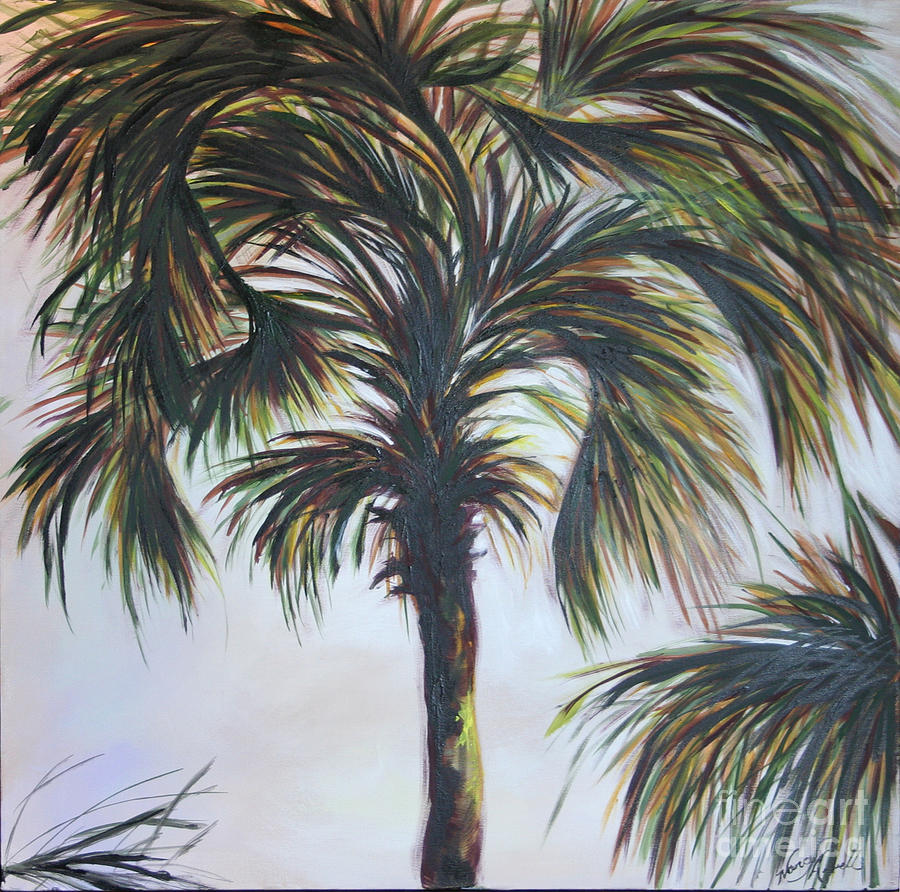 Palm Silhouette Painting