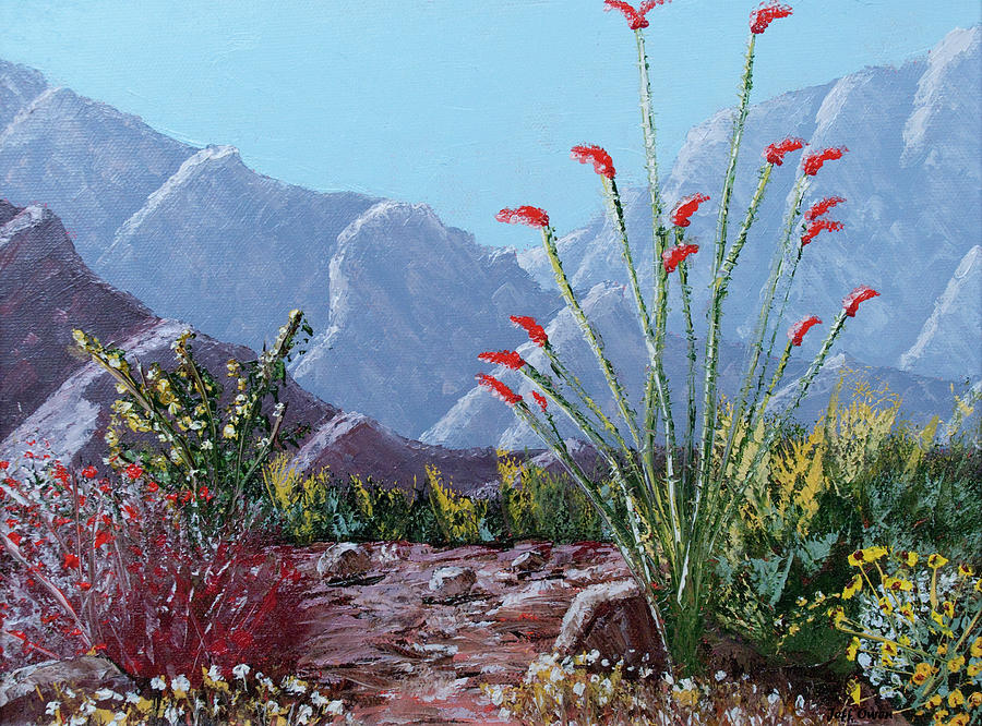 Palm Springs Beauty Painting  - Palm Springs Beauty Fine Art Print