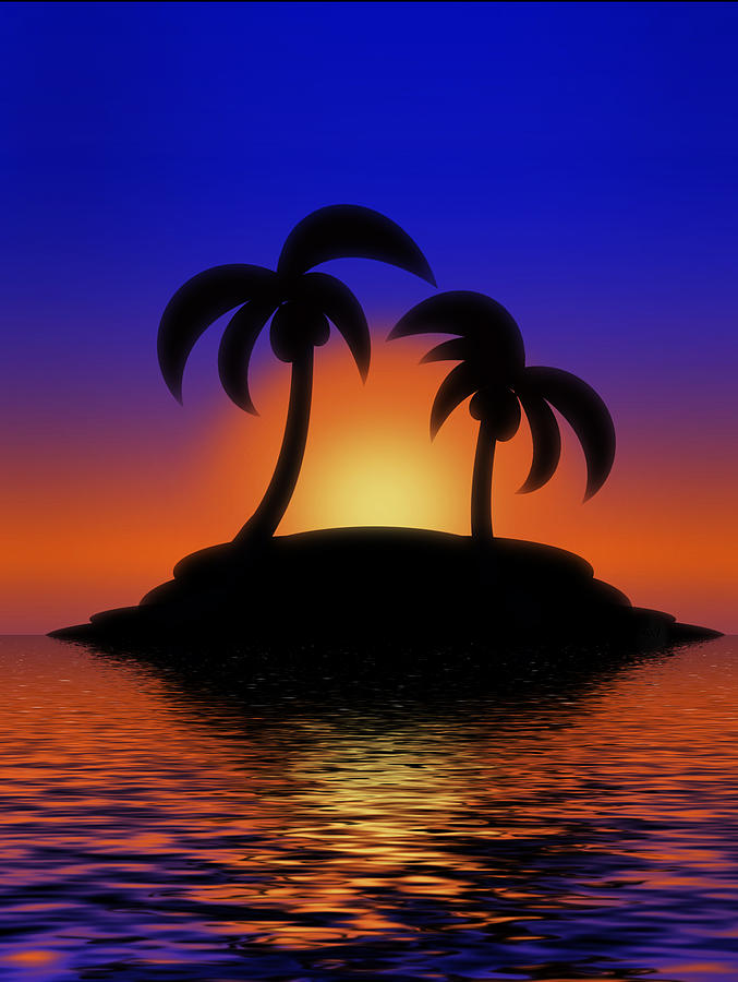 Palm Tree Sunset Cake Ideas And Designs