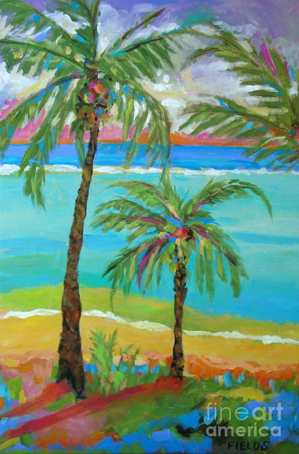 Palm Trees In Landscape Digital Art