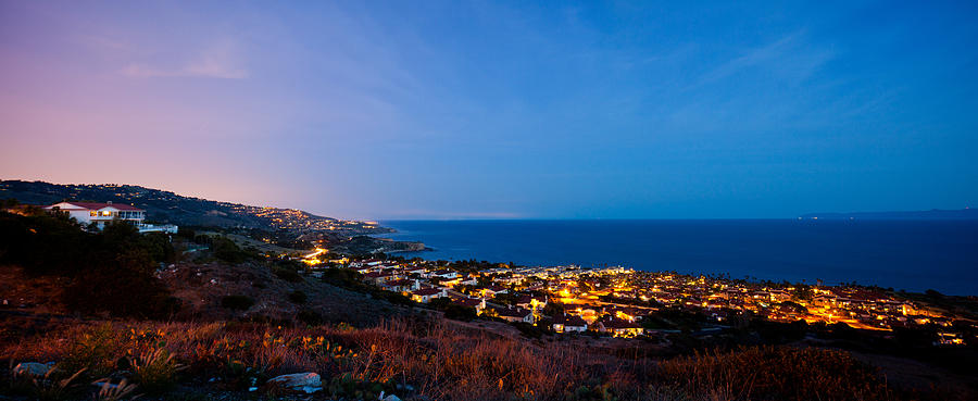 Palos Verdes City Lights Photograph  - Palos Verdes City Lights Fine Art Print