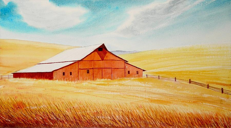 Palouse Air Painting  - Palouse Air Fine Art Print