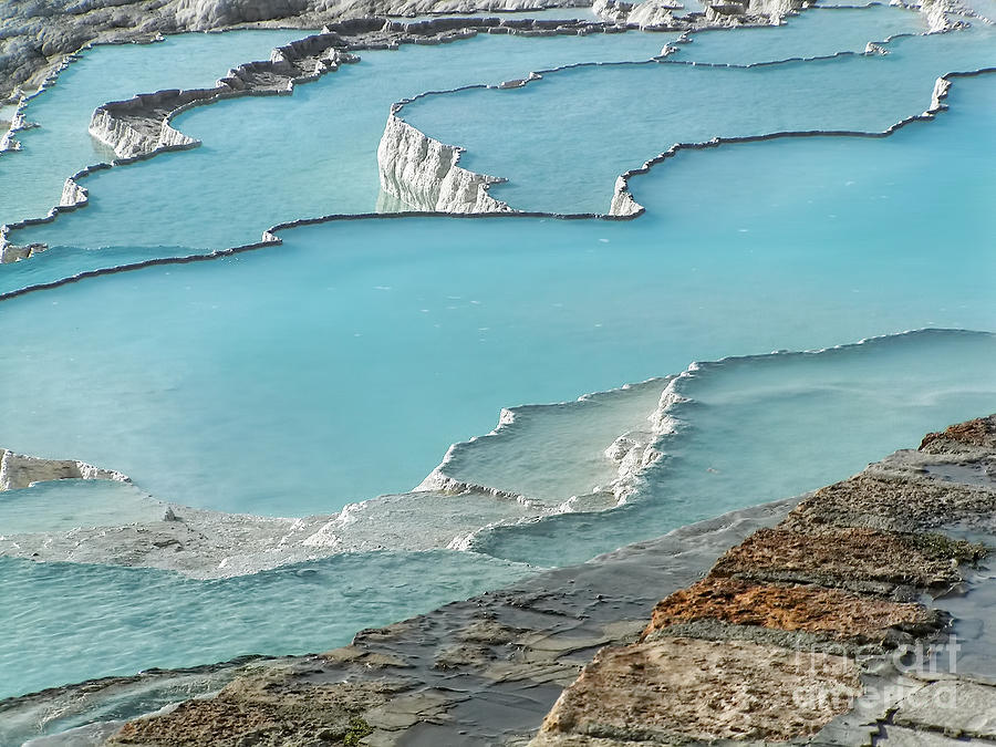 Pamukkale Azure Pools  Photograph  - Pamukkale Azure Pools  Fine Art Print