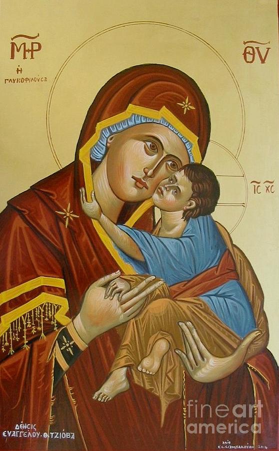 Panagia Glikofilousa Painting