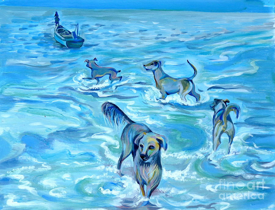 Panama. Salted Dogs Painting