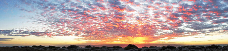 Panoramic Beach Sunset Photograph