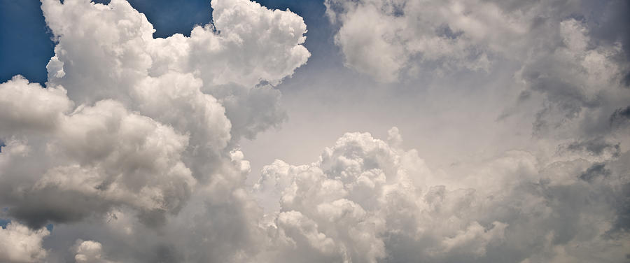 Cloud Photograph - Panoramic Clouds Number 9 by Steve Gadomski