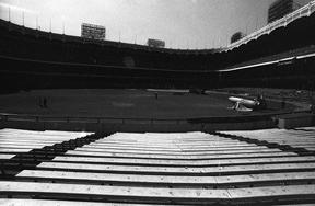 Panoramic-original Yankee Stadium From Center Field Bleachers Photograph