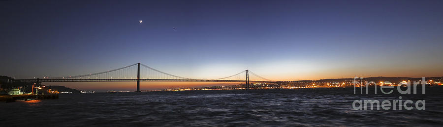 Panoramic Scene Of Lisbon, Portugal Photograph