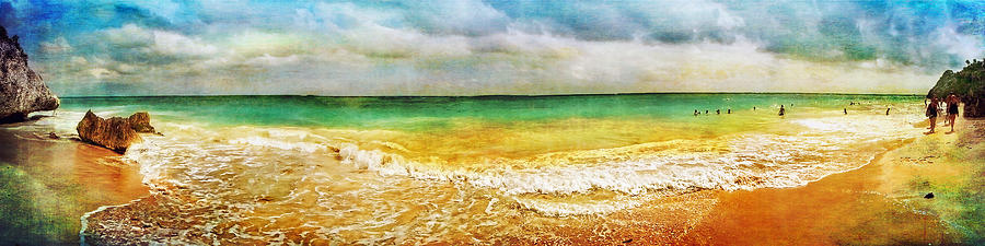 Panoramic Seaside At Tulum Photograph  - Panoramic Seaside At Tulum Fine Art Print