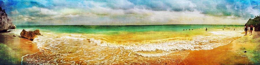 Panoramic Seaside At Tulum Photograph