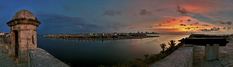 Panoramic View Of Havana From La Cabana. Cuba Photograph  - Panoramic View Of Havana From La Cabana. Cuba Fine Art Print
