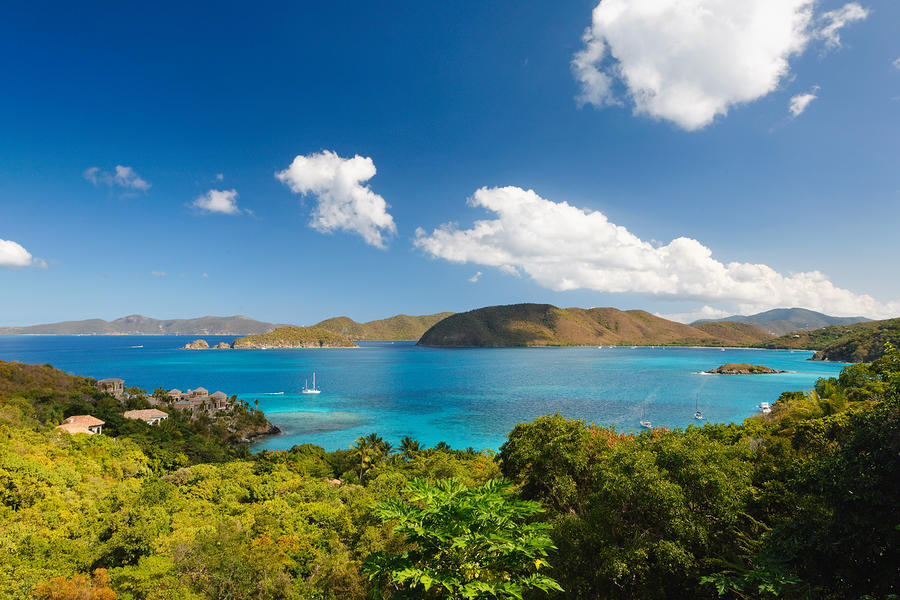Panoramic View Of Trunk Bay Photograph