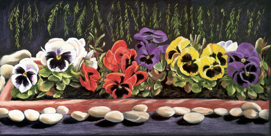 Pansy Palette Painting