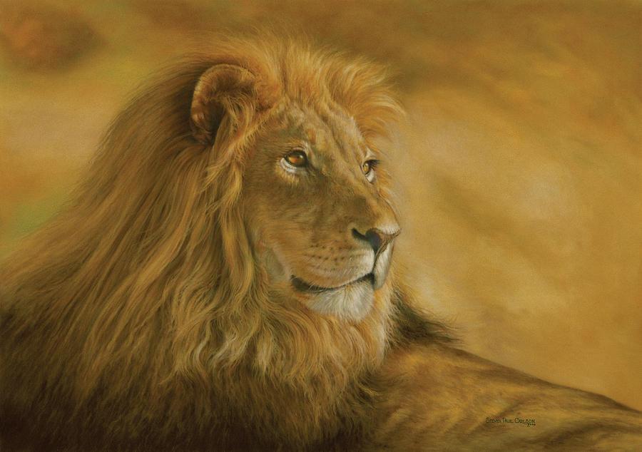 Panthera Leo - Lion - Monarch Of The Animal Kingdom Painting