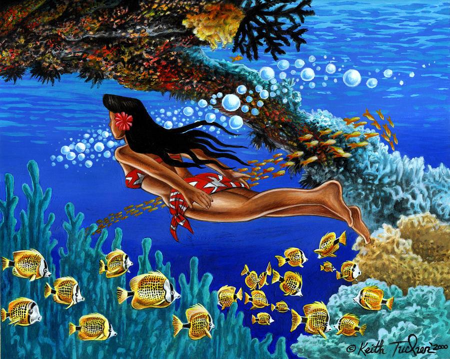 Papaku Means Bottom Of The Ocean In Hawaiian Painting
