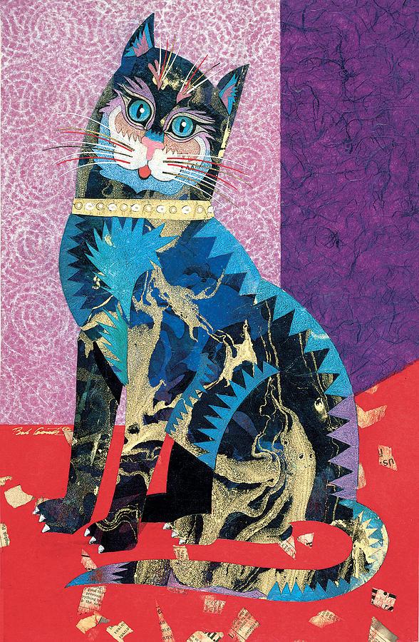 Paper Cat Painting