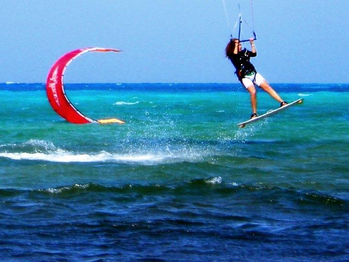 Para Surfing In Cozumel Mexico Photograph