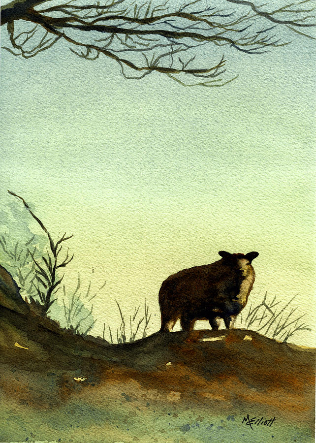 Sheep Painting - Parable Of The Lost Sheep by Marsha Elliott