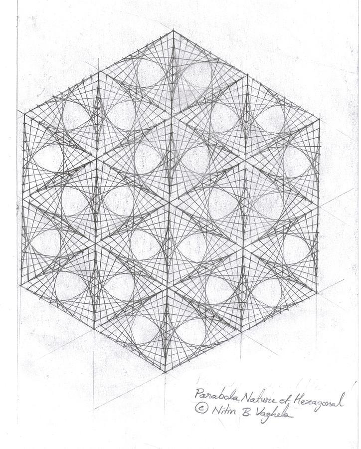 Free Worksheets parabolas worksheet : Parabola Nature Of Hexagonal Drawing by Nitin Vaghela