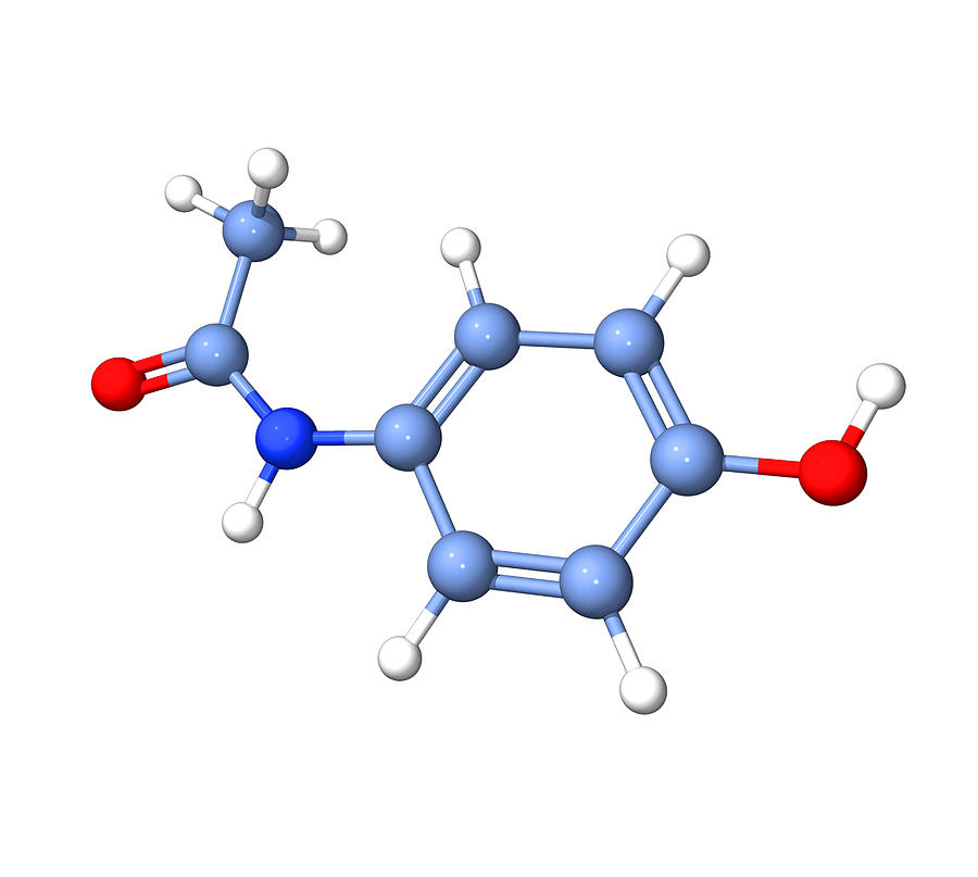 Paracetamol Molecule Photograph