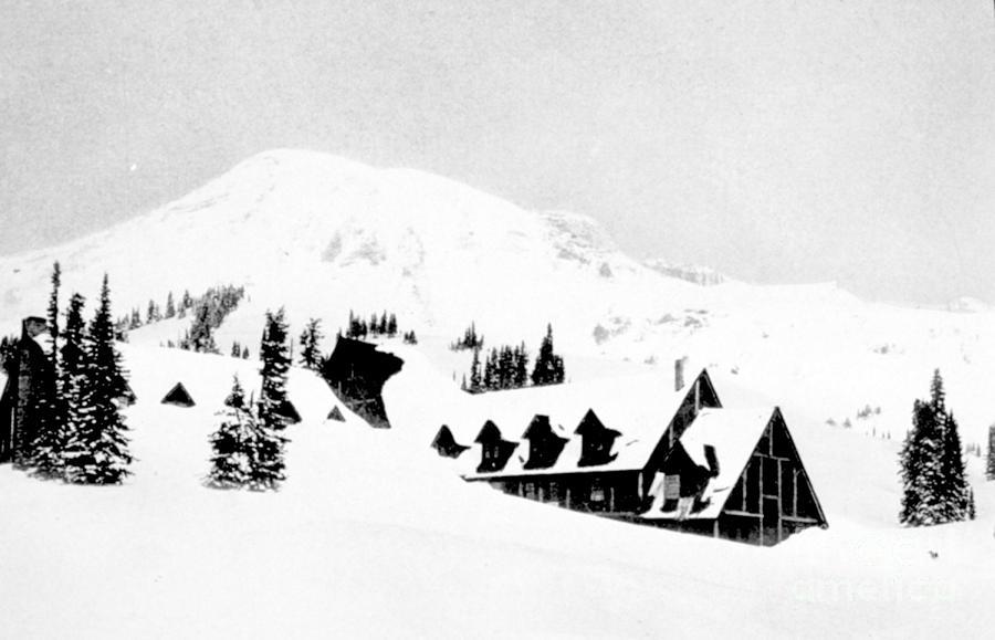 Paradise Inn Buried In Snow, 1917 Photograph