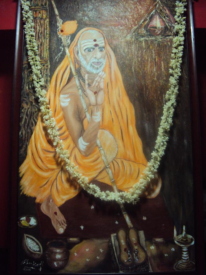 Paramacharya -a Great Sage Of India Painting