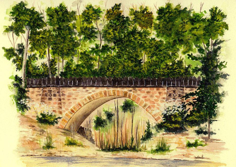 Parapet Bridge - Mill Creek Park Painting