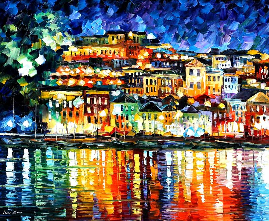 Parga Greece Painting  - Parga Greece Fine Art Print