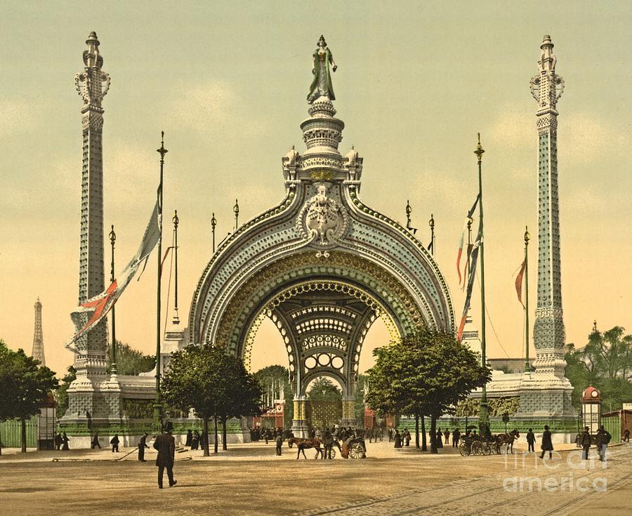paris 1900 exposition universal grand entrance photograph. Black Bedroom Furniture Sets. Home Design Ideas