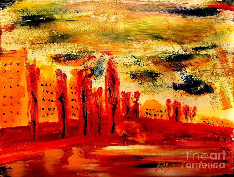 Paris Along The Seine 1 Painting  - Paris Along The Seine 1 Fine Art Print