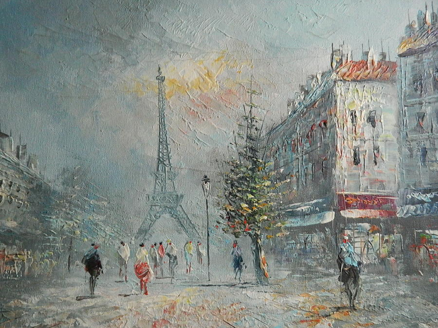 Painting - Paris At Dusk by Lauren Brown