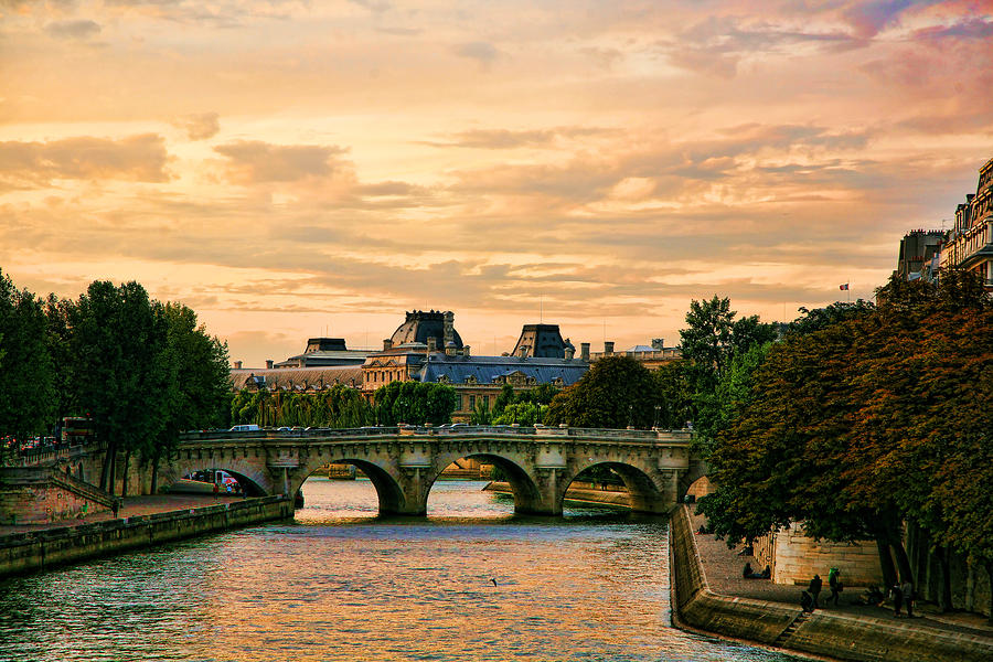 Paris At Sunset Photograph  - Paris At Sunset Fine Art Print