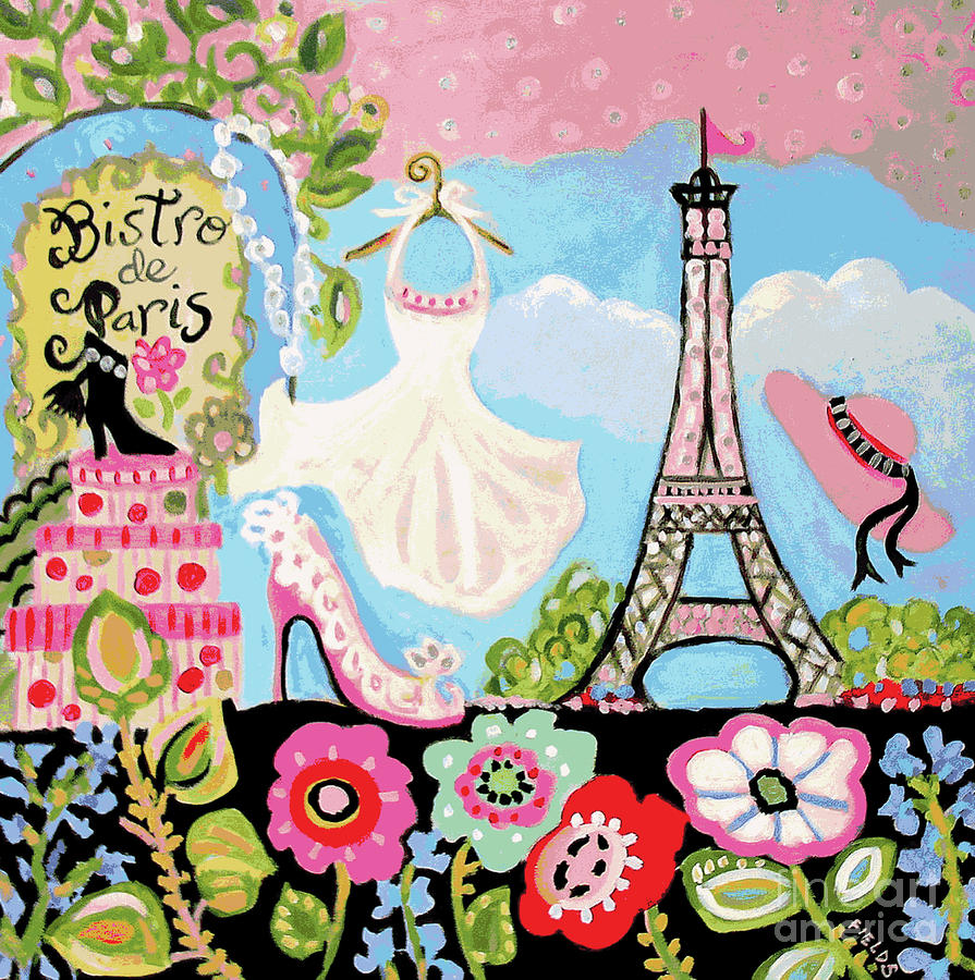 Paris Bistro Dress  Digital Art  - Paris Bistro Dress  Fine Art Print