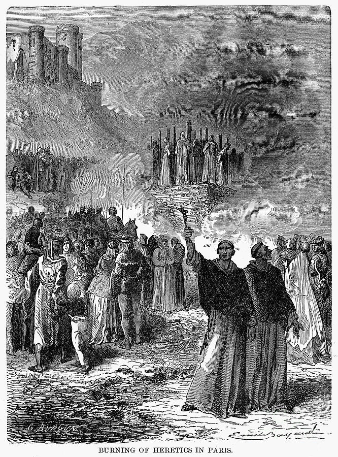 Paris: Burning Of Heretics Photograph