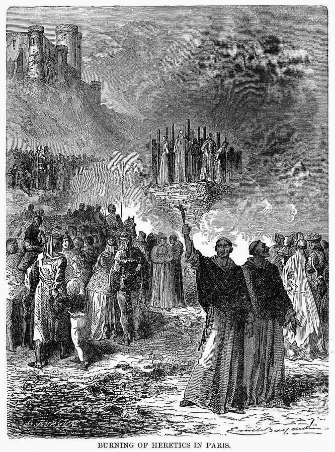 16th Century Photograph - Paris: Burning Of Heretics by Granger