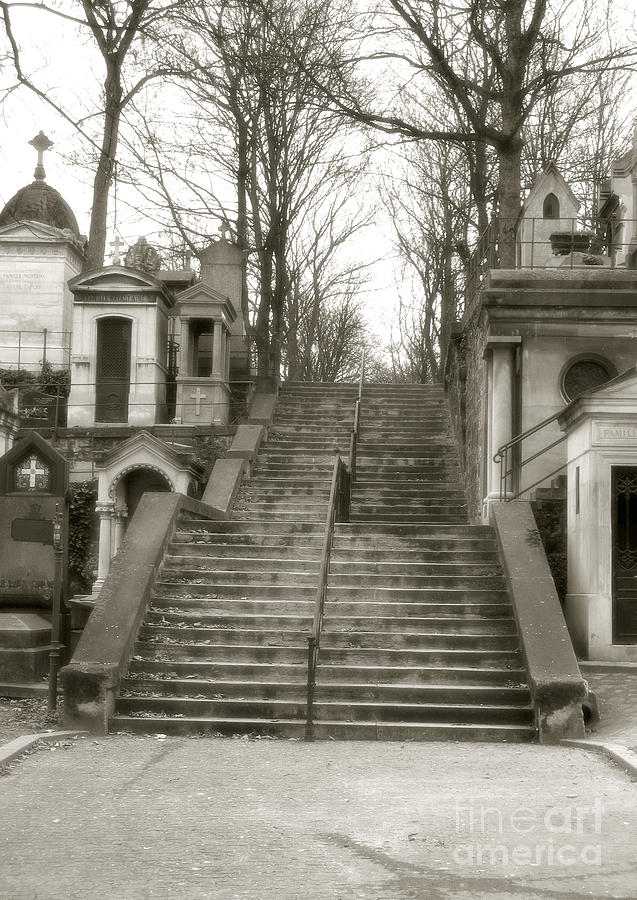 Paris Cemetery - Pere La Chaise - Mausoleum Stairs  Photograph