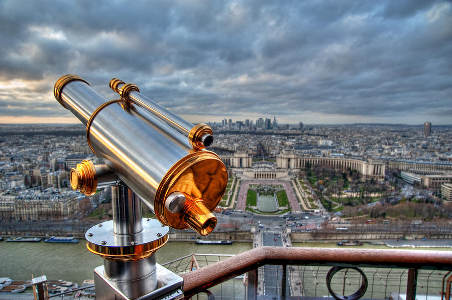 Horizontal Photograph - Paris Cityscape by Romain Villa Photographe