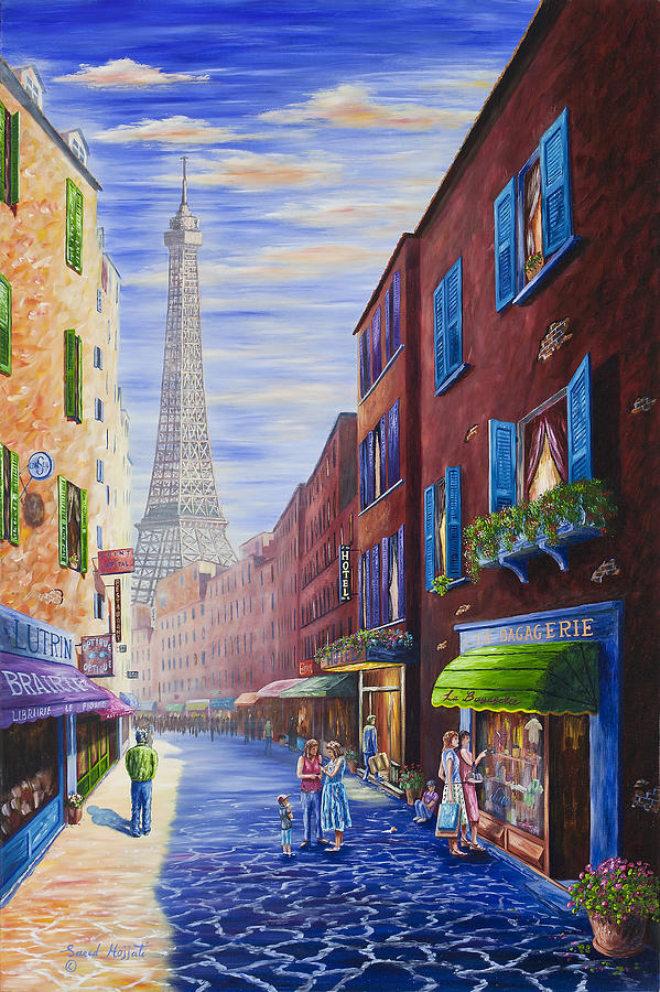 Paris Delight Painting  - Paris Delight Fine Art Print