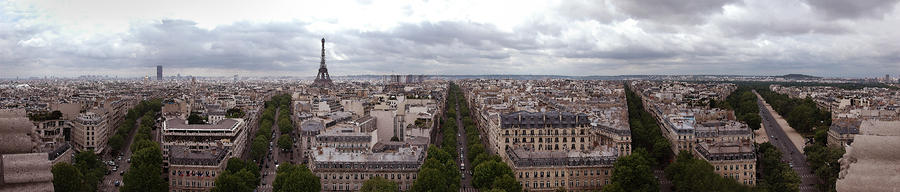 Paris From The Arch De Triumph Photograph  - Paris From The Arch De Triumph Fine Art Print