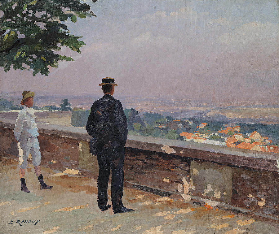 Paris From The Observatory At Meudon Painting  - Paris From The Observatory At Meudon Fine Art Print