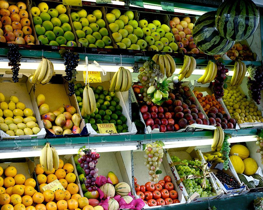 Paris Fruitstand Photograph