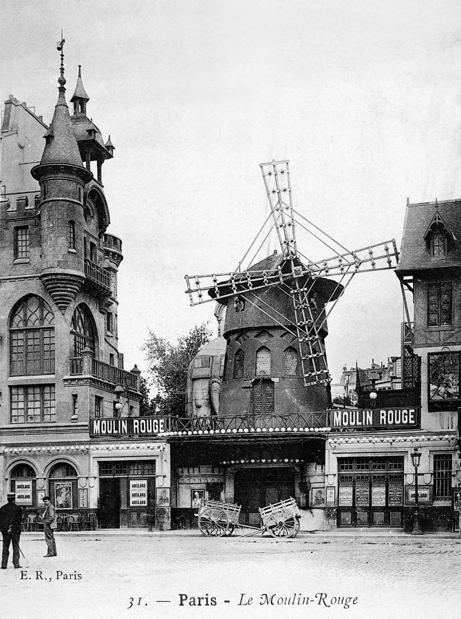 Paris: Moulin Rouge, C1900 Photograph  - Paris: Moulin Rouge, C1900 Fine Art Print