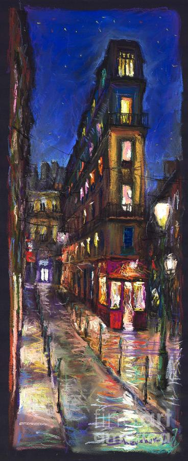 Paris Old Street Painting  - Paris Old Street Fine Art Print